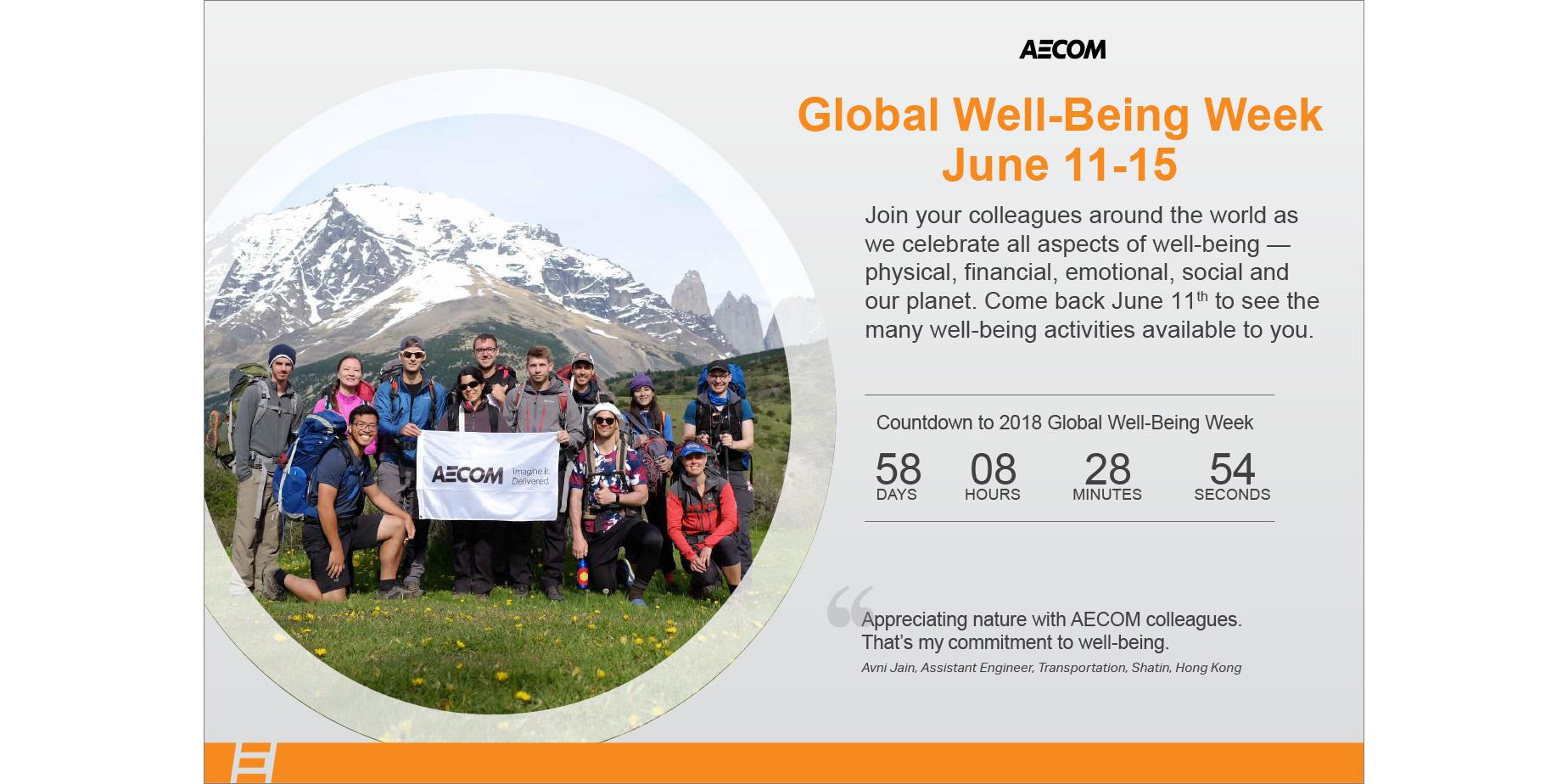 AECOM Global Well-being Week