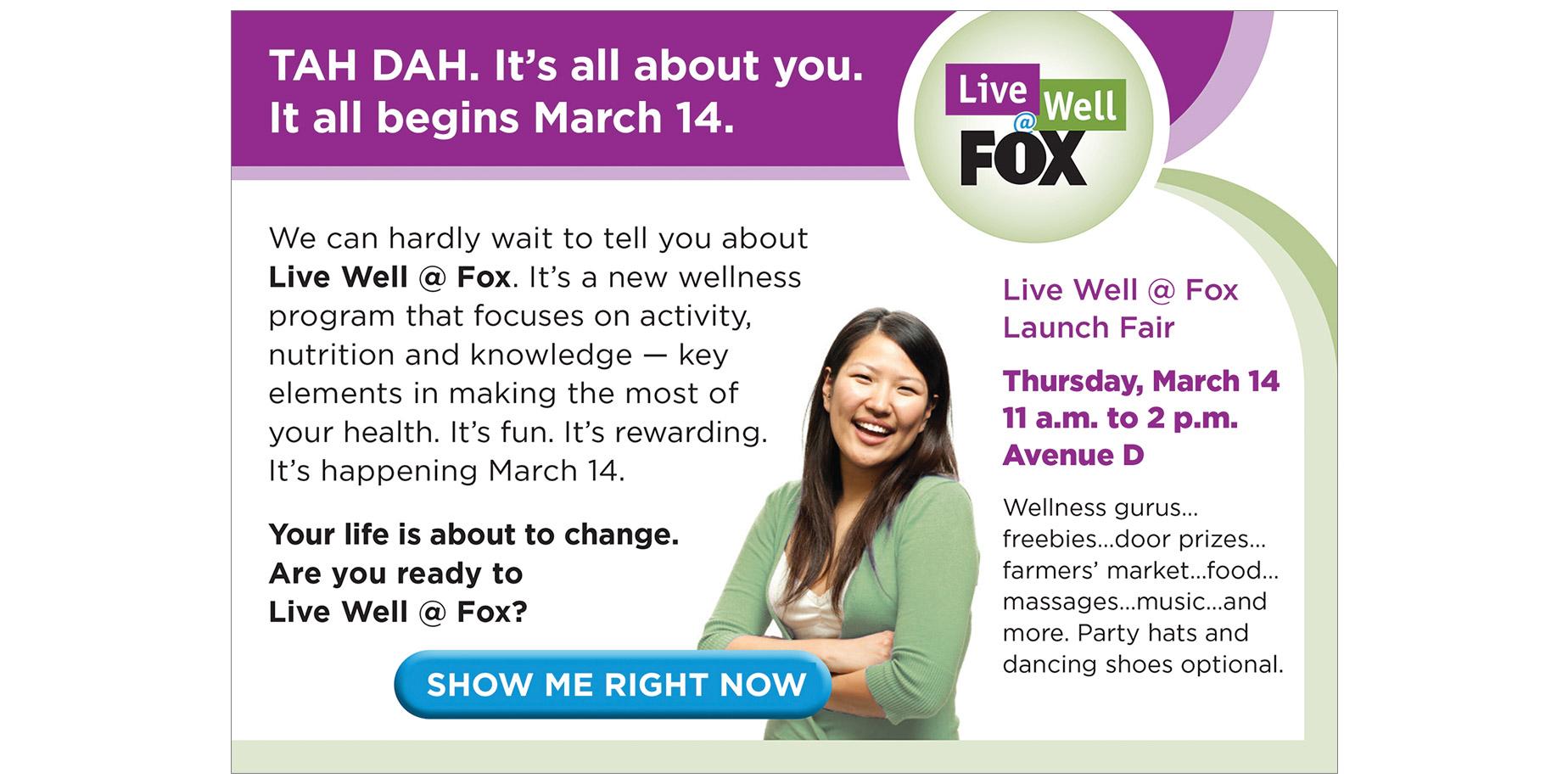 Fox Entertainment Wellness Launch